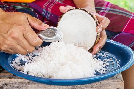 Grate coconut photo