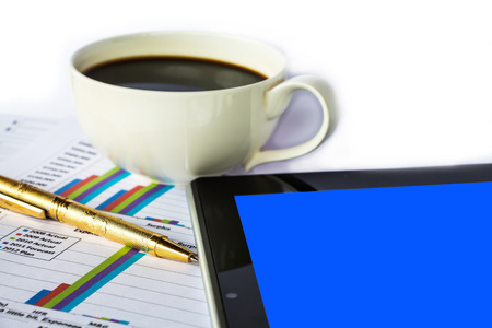 nyse: Finance report with coffee