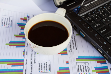 Finance report with coffee photo