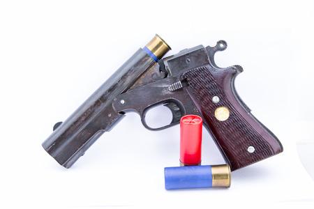 fusil de chasse: canon court Banque d'images