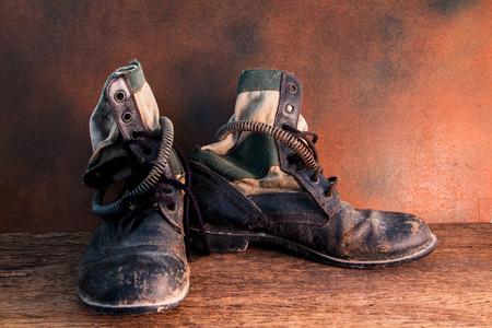 shoe string: Still life jungle boot