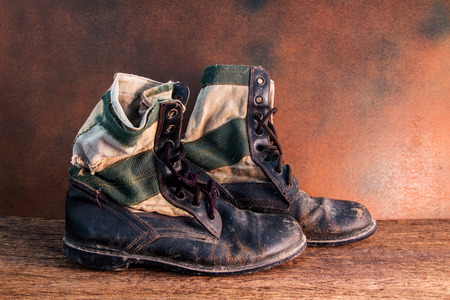 war and military: Still life jungle boot