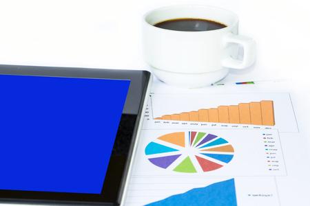 Coffee with finance chart