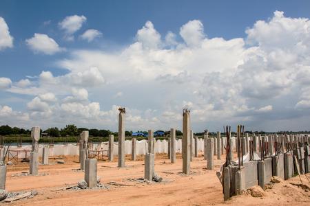 ahchor pile construction site Stock Photo