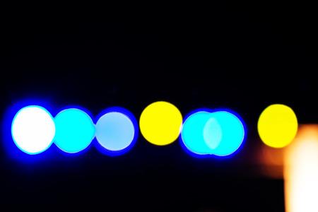 Blue yelow blur light Stock Photo