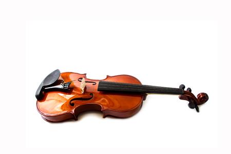 Violin isolated on white backround Stock Photo