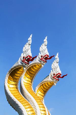 3 naga statue
