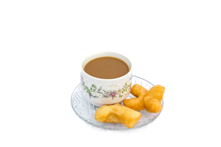 White cup Coffee with Phongko Фото со стока