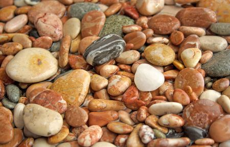 Pebbles can be used like a background