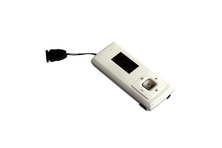 mp3 player with cord isolated  Stock Photo