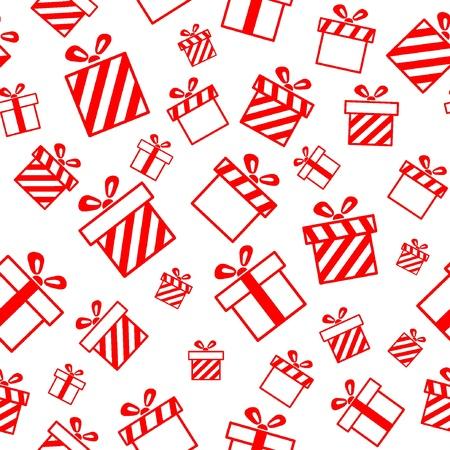 Naadloos patroon met geschenkdozen Stock Illustratie