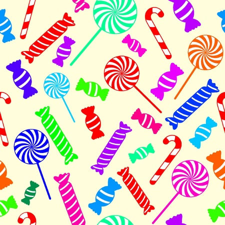 Seamless candy background Stock Vector - 10993833