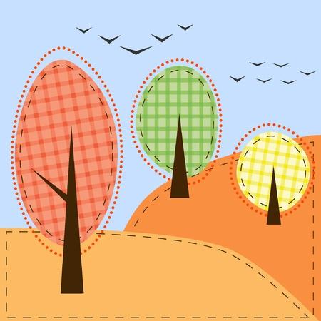 autumn landscape Stock Vector - 10993836