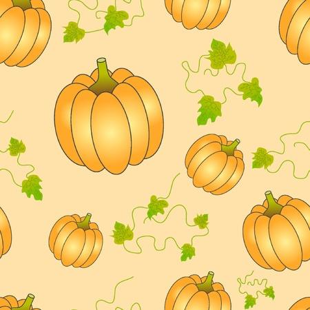 Halloween Seamless pumpkin pattern.