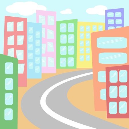 City street. Vector illustration EPS8  Vector