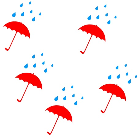Vector seamless pattern with umbrellas. Illustration. EPS8