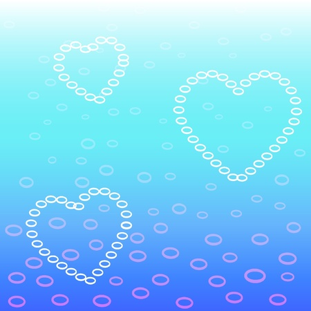 Heart bubbles. Vector illustration Vector