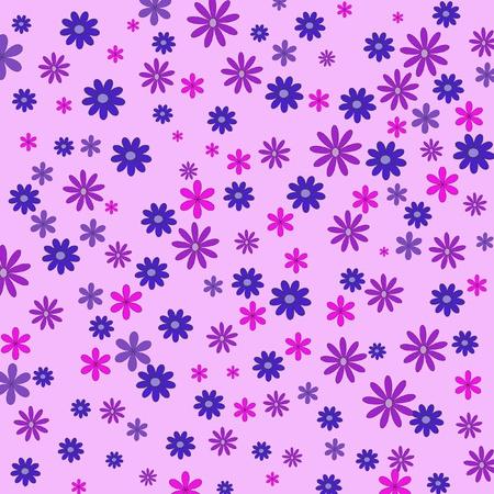 Diversi fiori sullo sfondo rosa