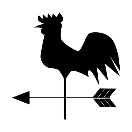 housetop: Vector Weathercock
