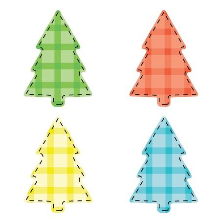 Vector Checkered Christmas tree  Illustration