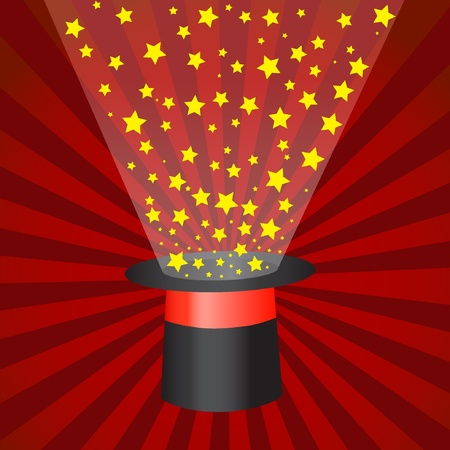 Magic hat with stars. Vector illustration EPS10 Vector