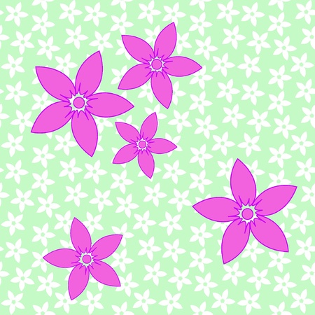 Seamless pattern of purple flowers. Vector illustration. EPS8 Stock Vector - 11053147
