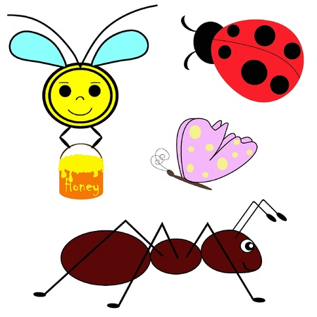 Set of vector insects. Illustration EPS8  Vector