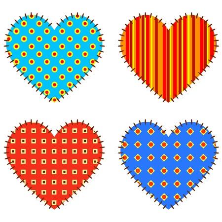 Vector hearts. Illustration EPS8  일러스트