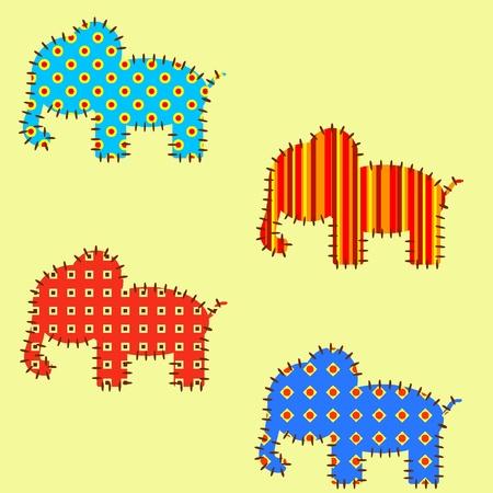 Vector seamless con gli elefanti. EPS8