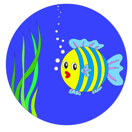 Vector cartoon fish. EPS8 Vector