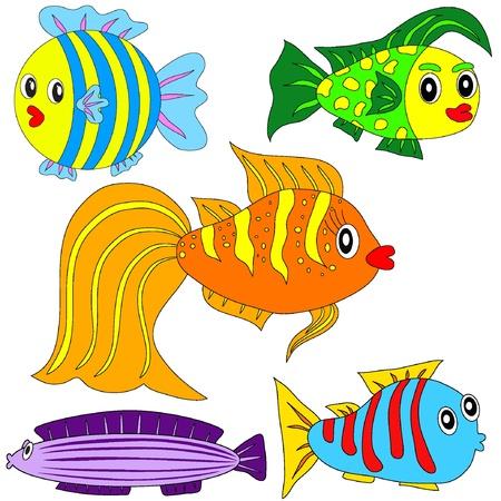 Cartoon vector fish set EPS8 Stock Vector - 11053112
