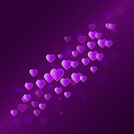 Vector abstract background with hearts