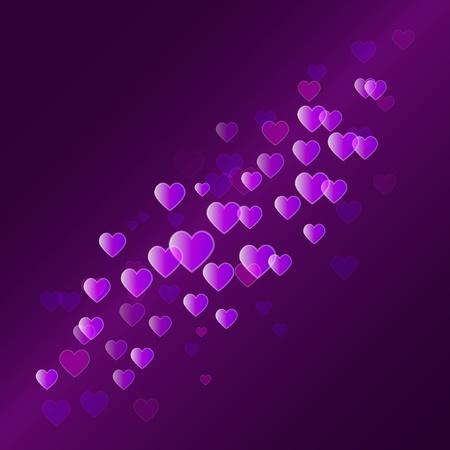 Vector abstracte achtergrond met hartjes