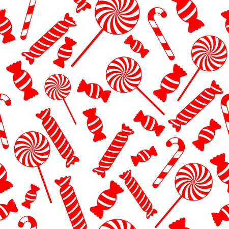 Seamless vector candy background Stock Vector - 14396902