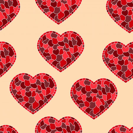 Seamless vector pattern with hearts eps8  Stock Vector - 16550382