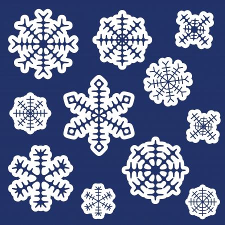 rime:  snowflakes set