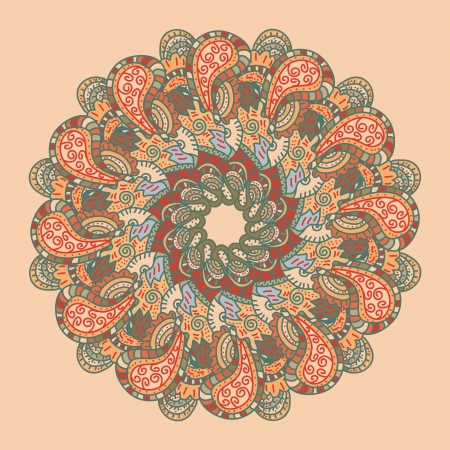 oblong: Vector retro ornamental round lace pattern