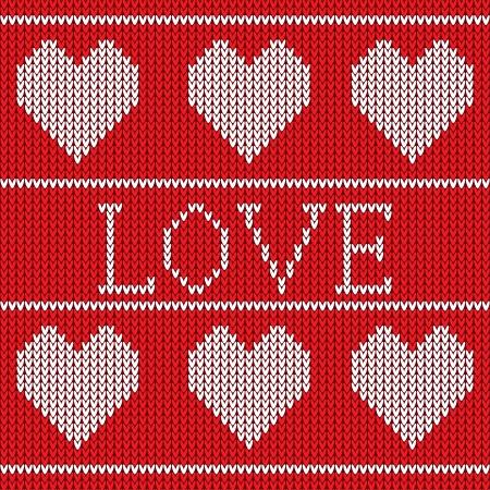 Red maglia maglione seamless con il cuore