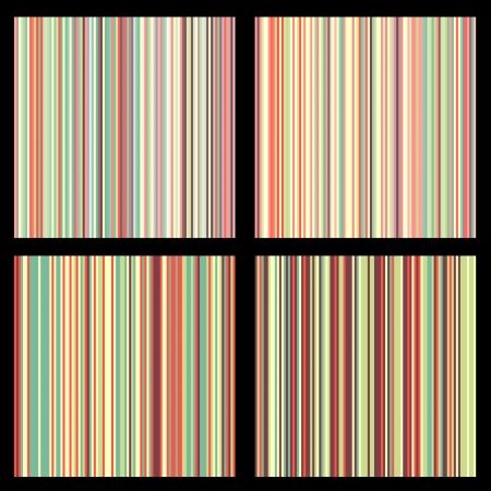 Set of striped seamless patterns Illustration