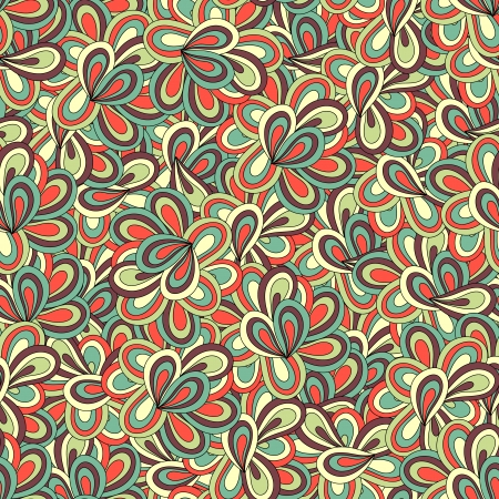 Seamless wave hand-drawn retro pattern  Illustration