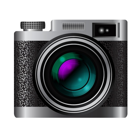 Retro camera icon illustration Vector