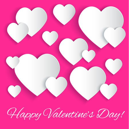 Valentines Day background with Happy Valentine Vector