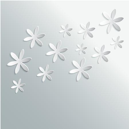 Abstract Background 3D Floral carta. Illustrazione vettoriale EPS10 Vettoriali