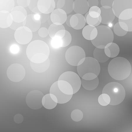 Estratto argento effetto di sfondo bokeh con luci sfocati .. Illustrazione vettoriale EPS10
