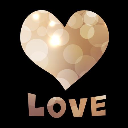 Colorato a mano disegnato cuore texture e biglietto di auguri di amore di giorno di San Valentino del testo su sfondo nero. Sfondo San Valentino. Vettoriali