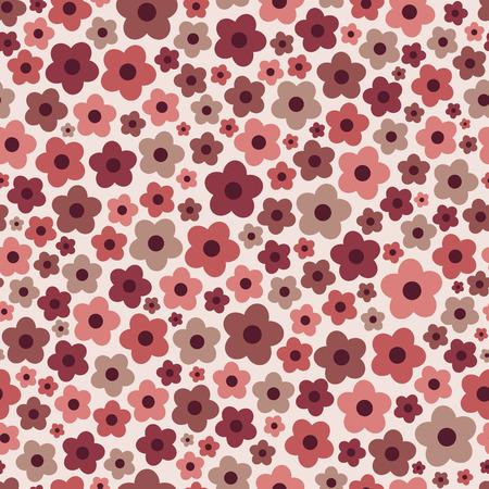 Seamless pattern floreale con fiori margherita con colori alla moda Marsala.