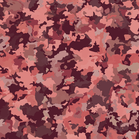Camouflage military background with Marsala trendy colors. Abstract pattern.  Stock Illustratie