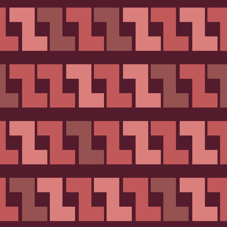 Seamless pattern with ethnic motive with trendy Marsala colors. Vector
