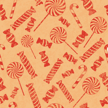 Seamless retro pattern with candies. Vector illustration EPS10 Vector