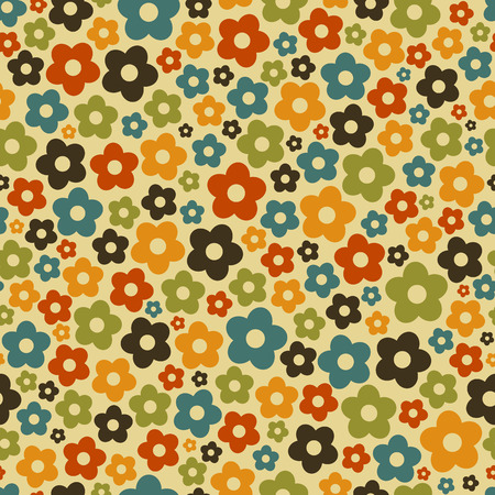 Seamless floral pattern with daisy flowers. Vector illustration EPS8 Endless texture can be used for fabric, prints, wallpaper, pattern fills, web page background, textures.